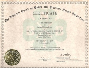 NBBI training cert